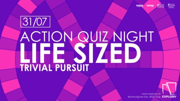 EXPLO ACADEMY – Action Quiz Night – Life Sized Board Game: Trivial Pursuit